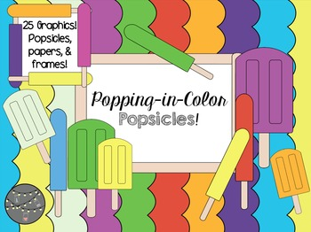 Popping-in-Color Popsicles Clipart! (Commercial Use)