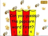 Popping up Word Wall Words