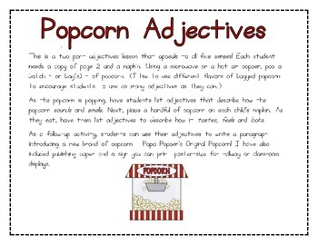Popping with Adjectives!