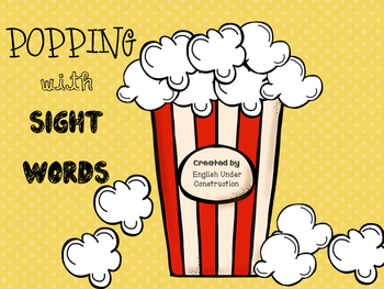 Popping with Sight Words