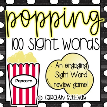 Popping with Sight Words - A Review Game!