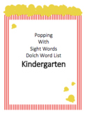 Popping with Sight Words Kindergarten