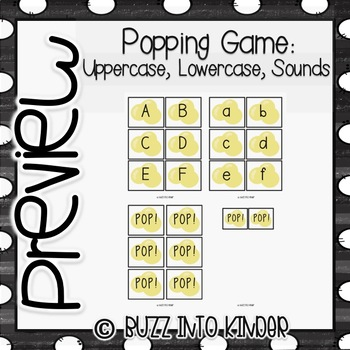 Popping with Uppercase Letters, Lowercase Letter and Sounds!