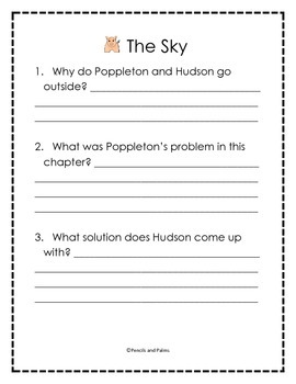 Poppleton Everyday - Comprehension Questions