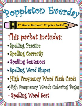 Poppleton Everyday:  First Grade Spelling and Sight Words Packet