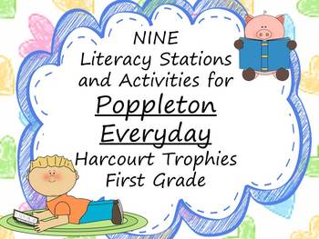 Poppleton Everyday Literacy Stations for Harcourt Trophies First Grade