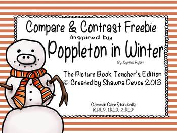 Compare Contrast Freebie inspired by Poppleton in Winter