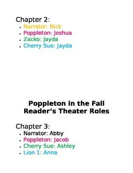 Poppleton in the Fall Reader's Theater