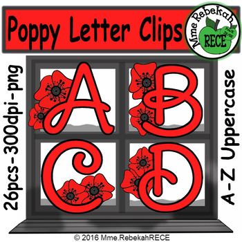 Memorial Day Alphabet Clip Set