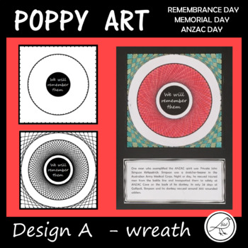 Poppy Art – ANZAC Day, Remembrance Day, Memorial Day, Armistice Day (Design A)