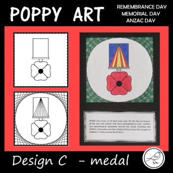 Poppy Art – ANZAC Day, Remembrance Day, Memorial Day, Armistice Day (Design C)