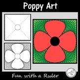 Anzac Day - Poppy Art - Math Art