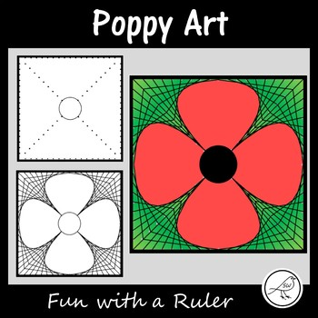 Anzac Day - Poppy Art - Math Art