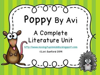 Poppy By Avi,  A Complete Literature Unit