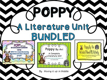 Poppy By Avi Novel Study Literature Unit(BUNDLED)
