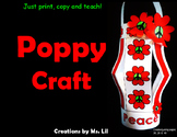 Poppy Craft  ::  Remembrance Day  :: Veterans Day  ::  Anzac Day  ::  Peace