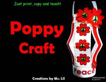 Poppy Craft Remembrance Day Veterans Day Anzac Day