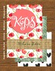Poppy Heart Polka Dot Teacher Binder Stationary Thank you Calendar