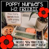 Poppy Numbers 1-12 Freebie