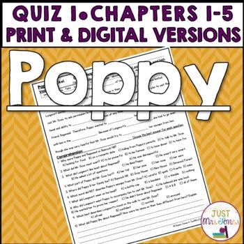 Poppy Quiz 1 (Ch. 1-5)