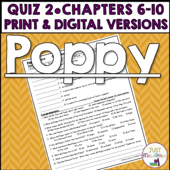Poppy Quiz 2 (Ch. 6-10)
