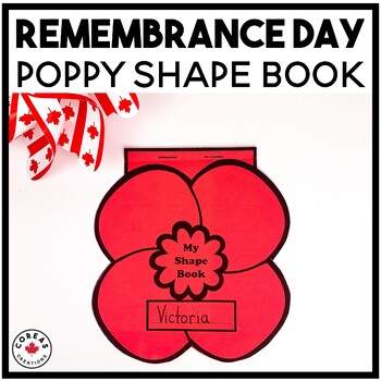 Remembrance Day Canada | Poppy Shape Book