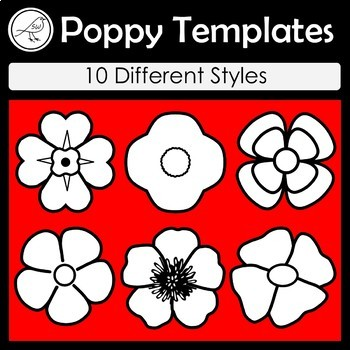 Poppy Template Teaching Resources | Teachers Pay Teachers