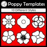 Anzac Day - Poppy Templates