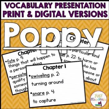 Poppy Vocabulary Presentation