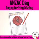 Poppy Writing Activity: Anzac Day | Remembrance Day