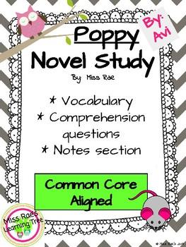 Poppy by Avi Novel Study l Comprehension Questions l Vocabulary