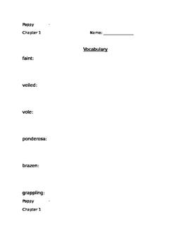 Poppy by Avi book study