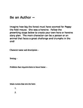 Poppy the novel by Avi