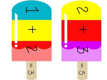 Popsicle Addition and Subtraction Center - Sums and Differences to 20