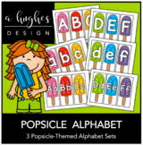 Popsicle Alphabet Set {A Hughes Design}