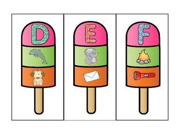 Popsicle Alphabet Cards