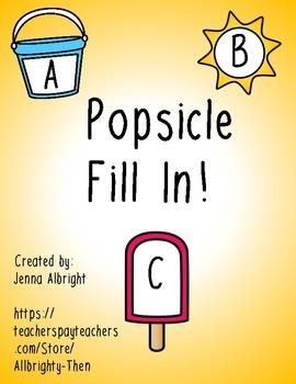 Popsicle Alphabet Fill In