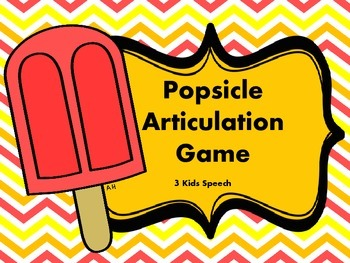 Popsicle Articulation Game