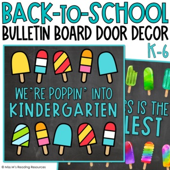 Popsicle Bulletin Board and Door Decor