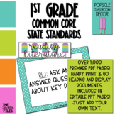 Popsicle Classroom Decor - 1st Grade CCSS Posters EDITABLE