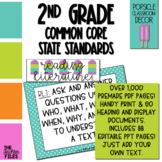 Popsicle Classroom Decor - 2nd Grade CCSS Posters EDITABLE