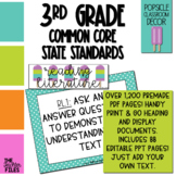 Popsicle Classroom Decor - 3rd Grade CCSS Posters EDITABLE