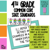 Popsicle Classroom Decor - 4th Grade CCSS Posters EDITABLE
