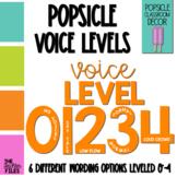 Popsicle Classroom Decor: Voice Levels