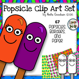 Popsicle Clip Art Pack- with borders and background paper