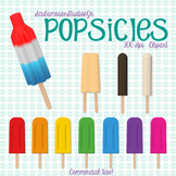 Popsicle Clipart, 300 dpi Commercial Use, Summer Clipart