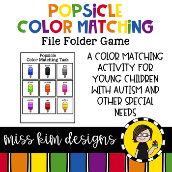 Folder Game: Popsicle Color Matching for Students with Autism & Special Needs