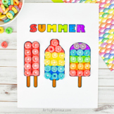 Popsicle Coloring Page Craft