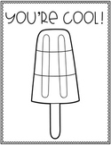 Popsicle Coloring Sheet Freebie