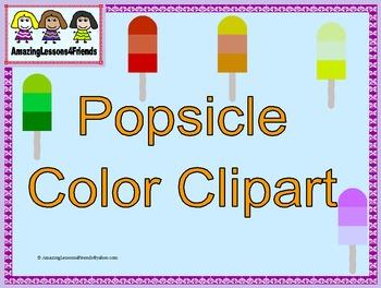 Popsicle Colors Clipart